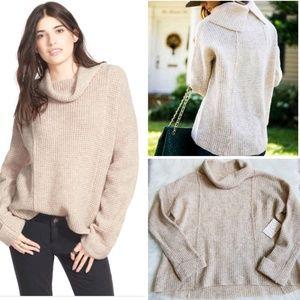 Free People NWT Sidewinder Cowl Neck Wool Sweater